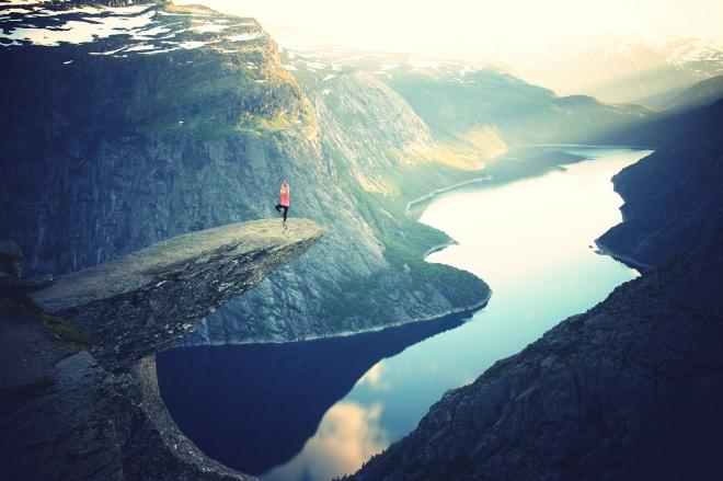 Yoga à la montagne